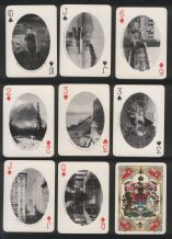 Antique Souvenir Canadian Railway playing cards Ocean to Ocean
